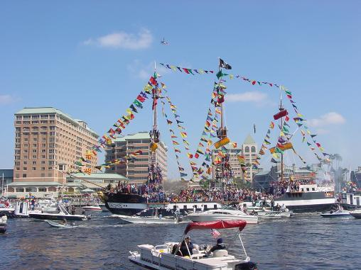 Gasparilla 2003 invasion of Tampa. Photo by Christopher Hollis