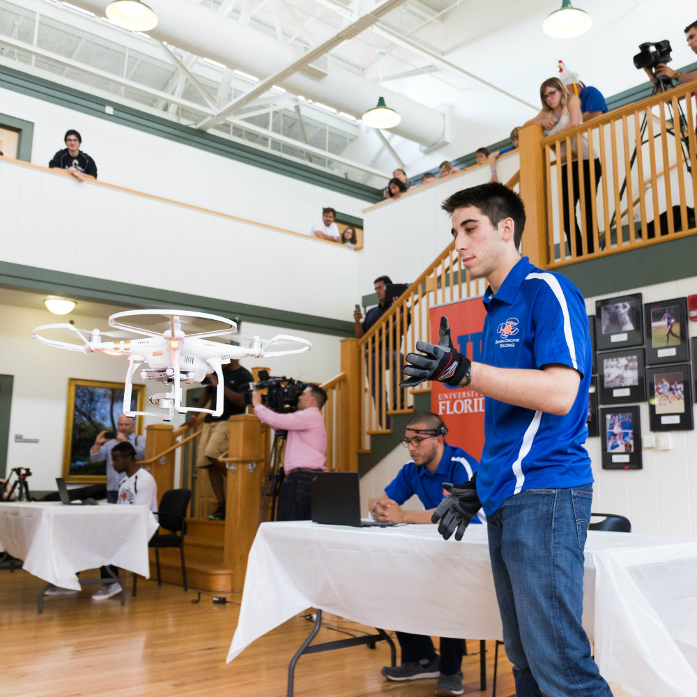 At UF, the world's first brain-controlled drone race