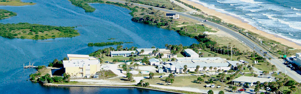 aerial of whitney lab in st. augustine