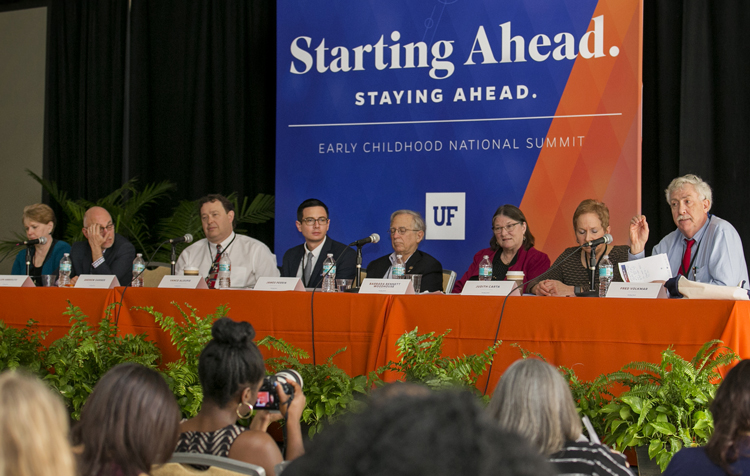 panelists at the UF early childhood summit