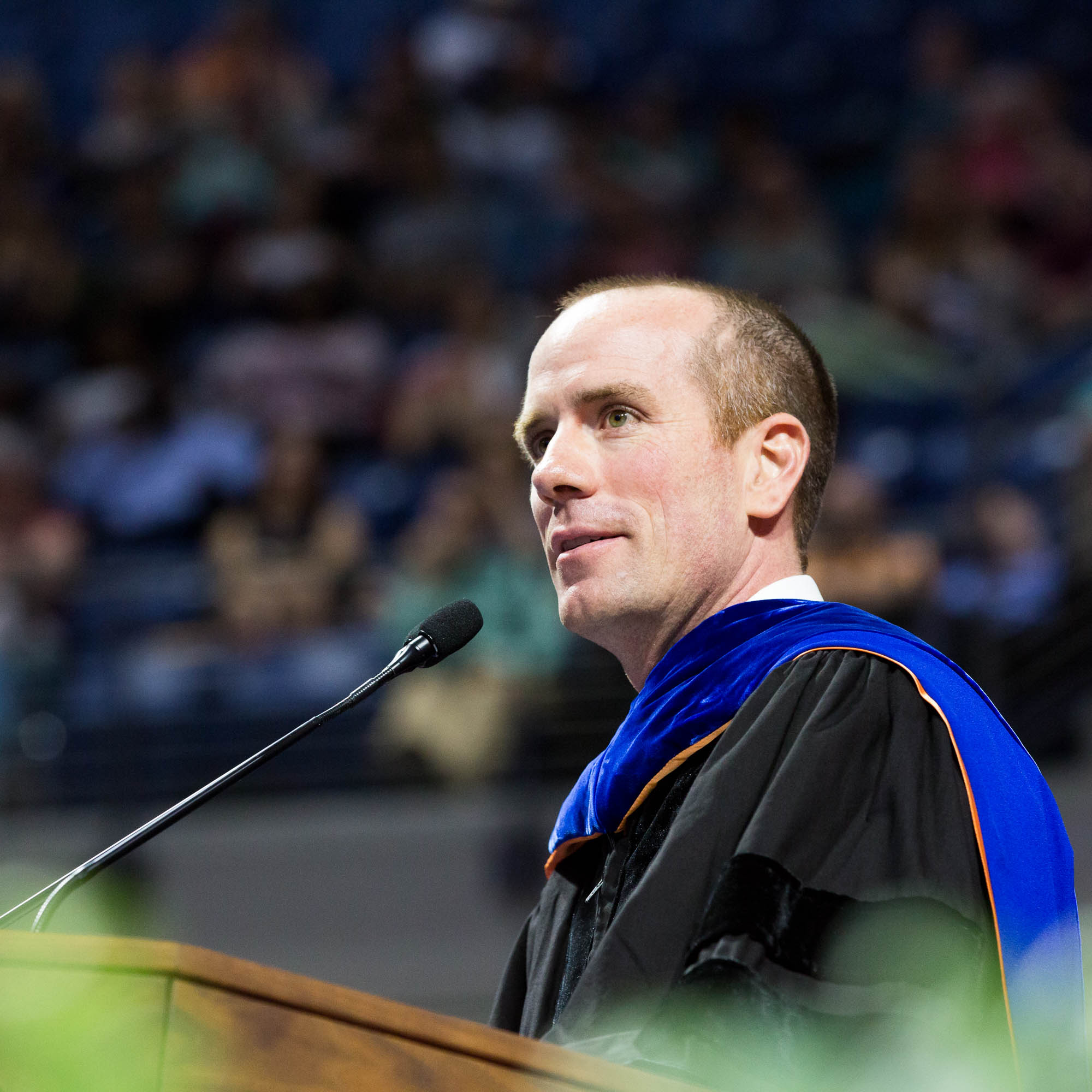 Gator Marching Band director speaks at doctoral commencement