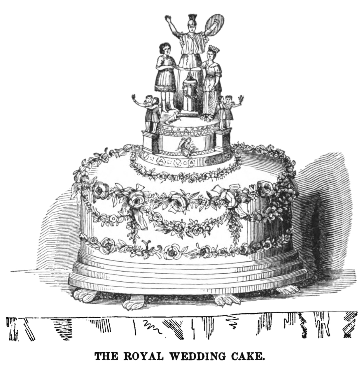 Queen Victoria's royal wedding cake