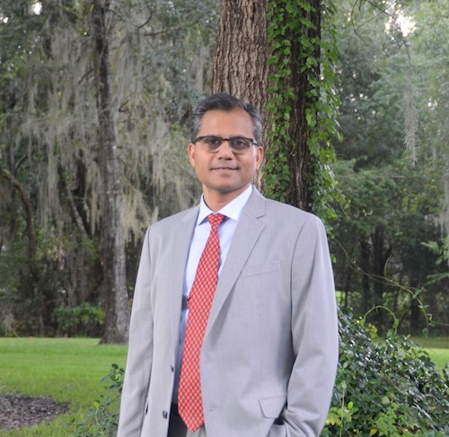Professor Anuj Kumar outdoors