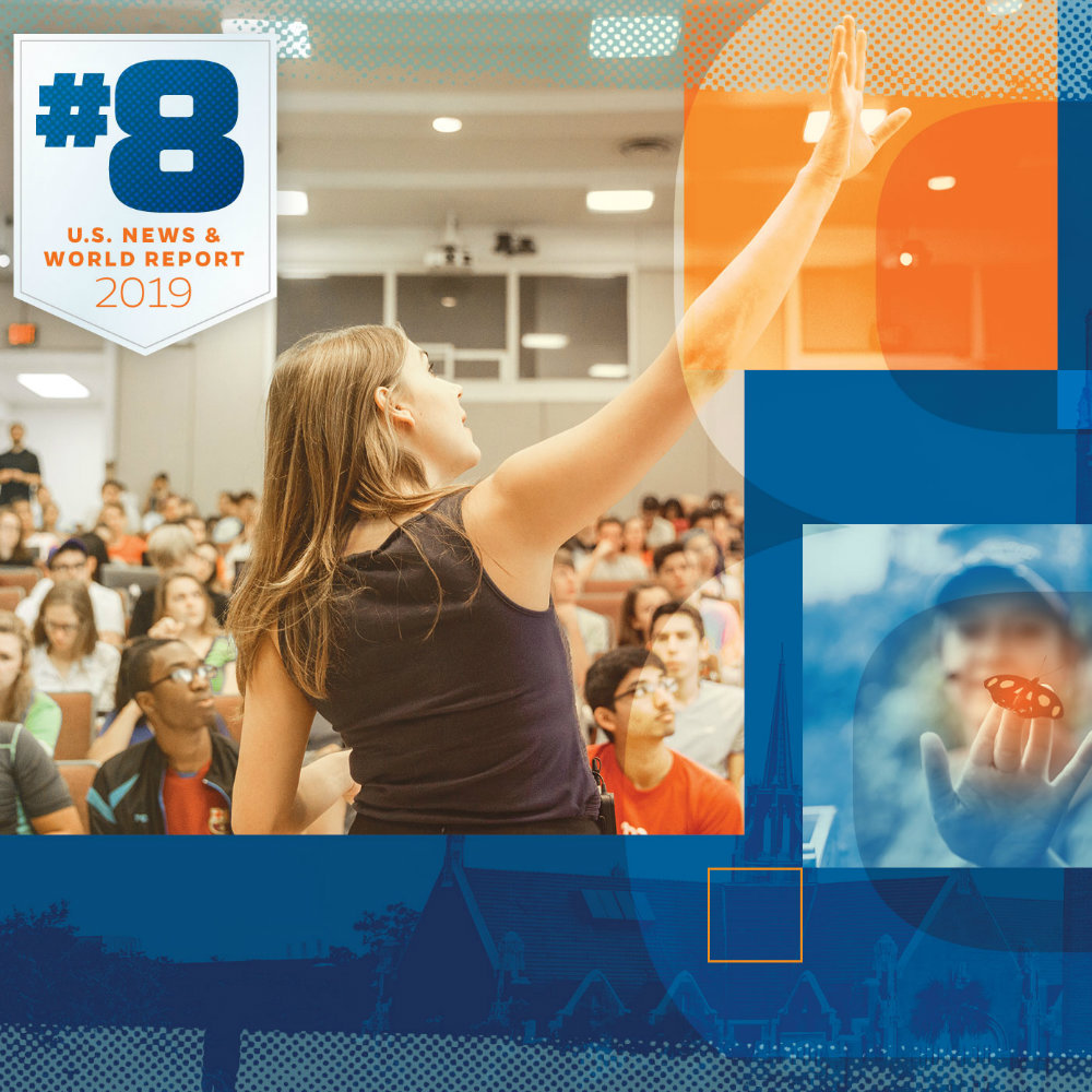 UF rises to No  8 in U S  News list of best public