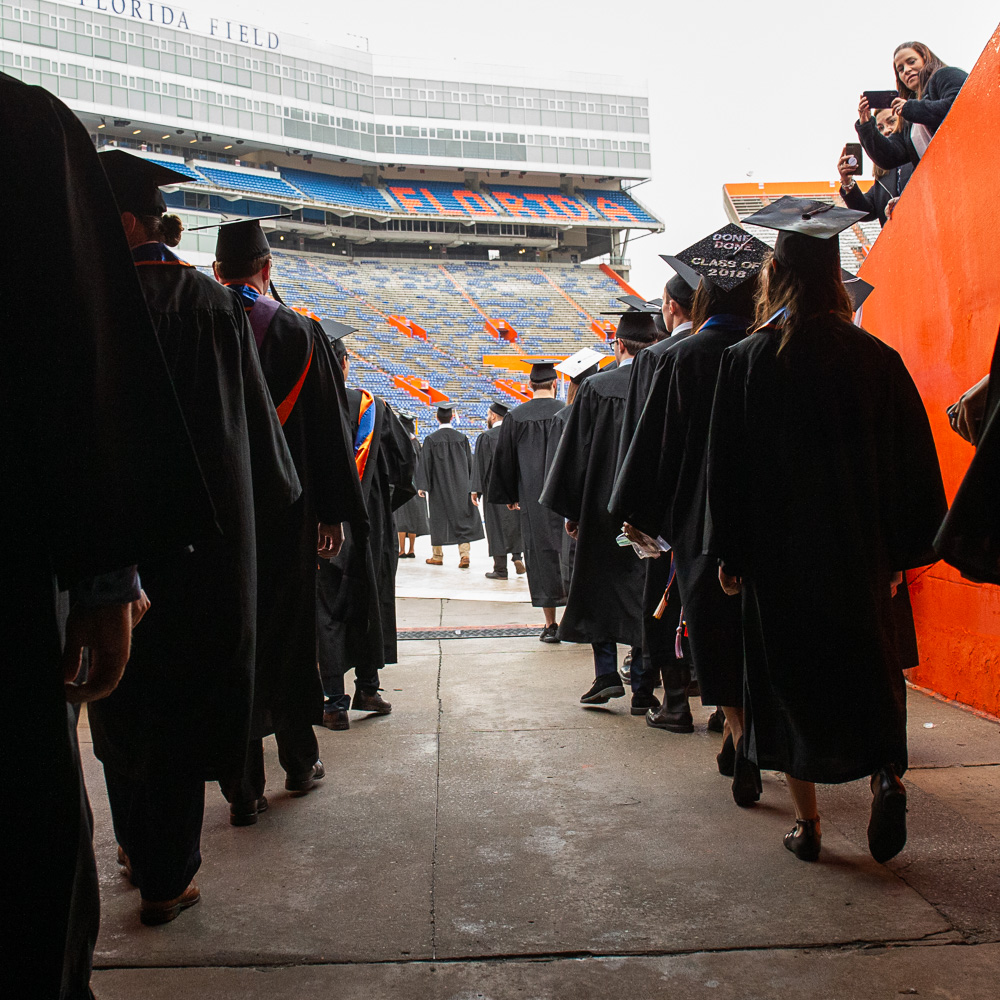 UF officials monitoring commencement weekend weather