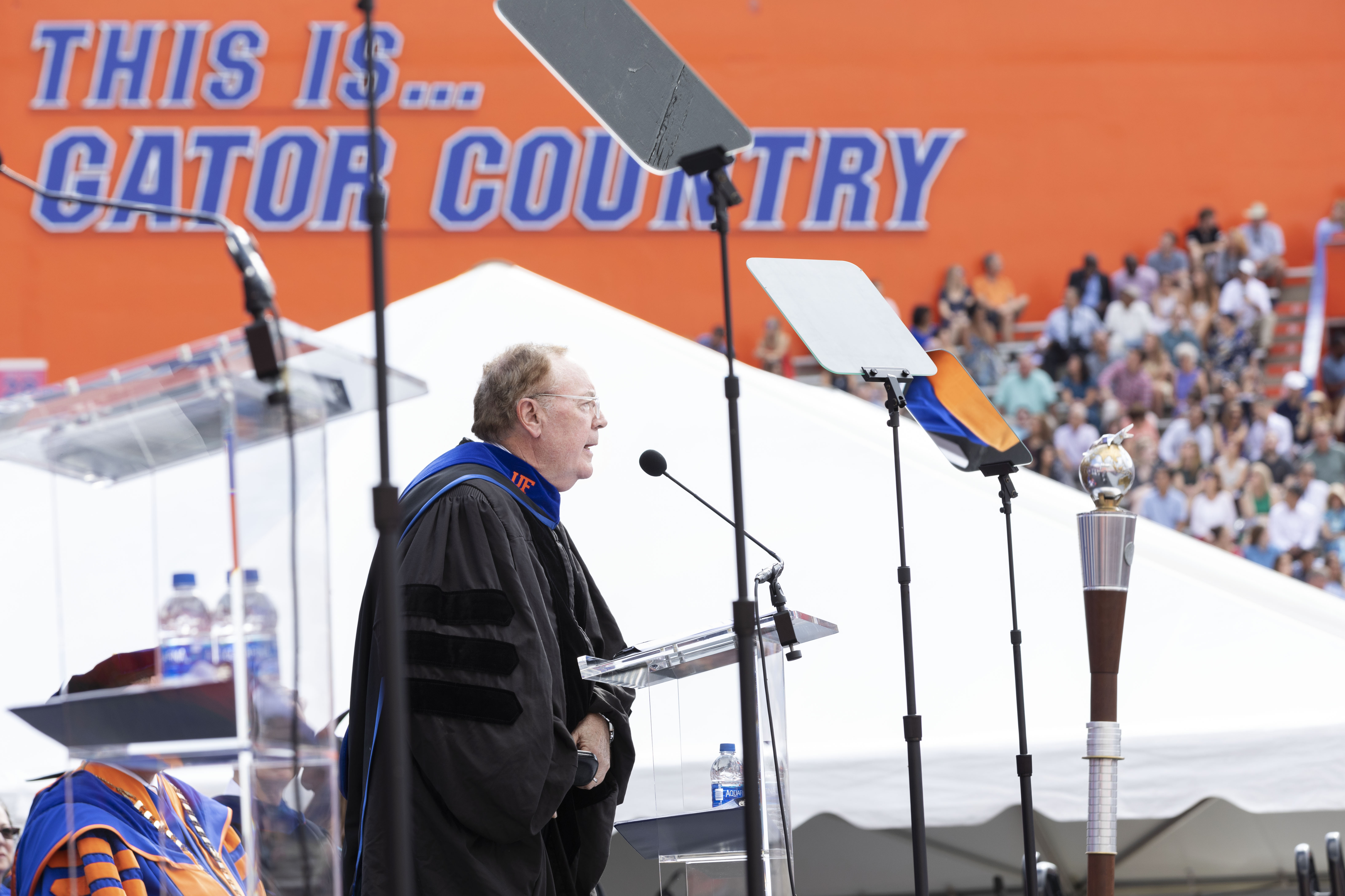 Guest commencement speaker James Patterson's speech for university wide ceremony