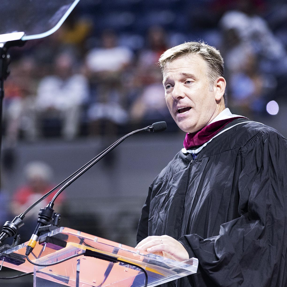 Author, professor Ted Spiker addresses Summer 2019 grads