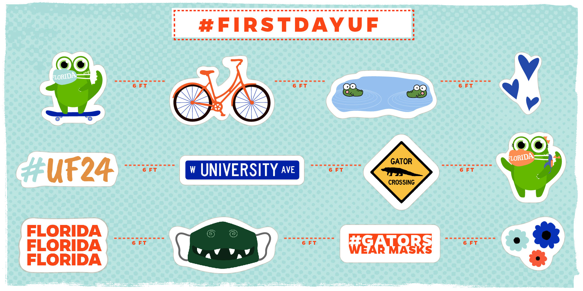 Near and far, UF students start first day of Fall semester
