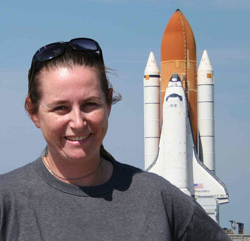 Astrobiologist Jamie Foster and Kennedy Space Center with the space shuttle in the background  - foster and shutle - You don't have to be an astronaut to have a career in space – News