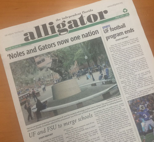 alligator front page