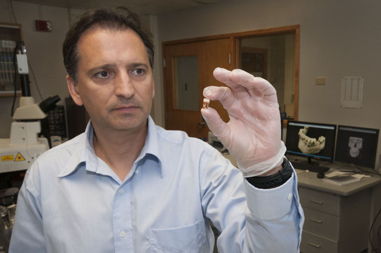 UF geology professor George Kamenov has published research that shows trace amounts of lead in modern and historical human teeth can give clues about where they came from.