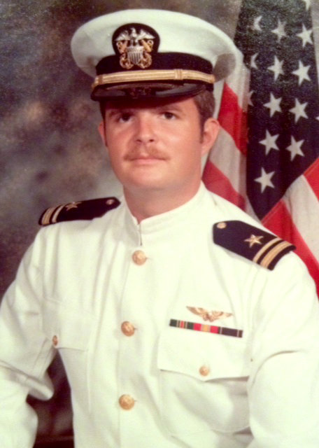 Will Kesling in 1972, as newly minted a U.S. Navy pilot. Kesling will lead a veterans-themed holiday concert at UF on Dec. 7, 2014.