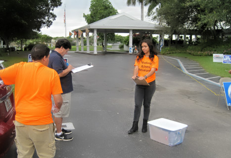 UF and Miami-Dade area college students used Popsicle sticks and other tools to measure wait times in the recent election.